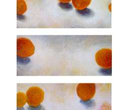 1995, Combination, oil on canvas, 3 x 30 x 70 cm