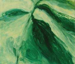 1997, Study of a plant I, oil on canvas, 150 x 70 cm
