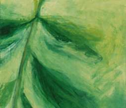 1997, Study of a plant III, oil on canvas, 150 x 70 cm