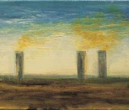 1999, Study of chimneys I, oil on canvas, 20 x 30 cm