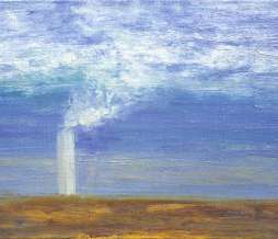 1999, Study of chimneys II, oil on canvas, 20 x 30 cm