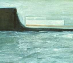 1999, Without title , oil on canvas, 35 x 100 cm