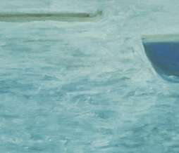1999, Variably prolongable boat 1, oil on canvas, 40 x 60 cm