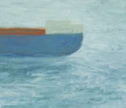 1999, Variably prolongable boat 2, oil on canvas, 40 x 60 cm