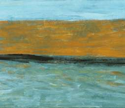 1999, Containership, oil on canvas, 50 x 120 cm