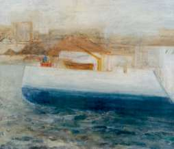2001, Port IV, oil on canvas, 80 x 100 cm
