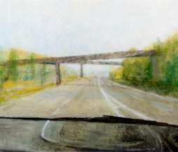 2002, Motorway IV, oil on canvas, 115 x 150 cm