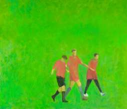 2010, Three football players, oil on canvas, 120 x 140 cm