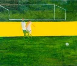 2010, Two football players II, oil on canvas, 120 x 150 cm